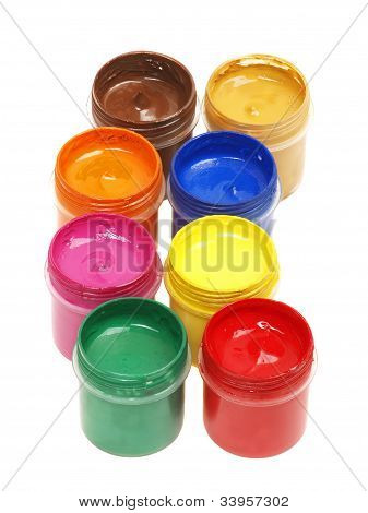 Paints Isolated On A White Background