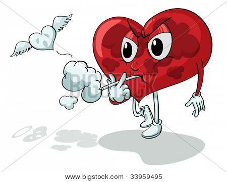 Abbildung eines Herzens Rauchen