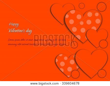 Valentine, valentine day, Valentine's Day background, Valentine's day banners, Valentine's Day flyer, Valentine's Day design, Valentines Day with Heart on red background, Copy space text area, vector illustration.