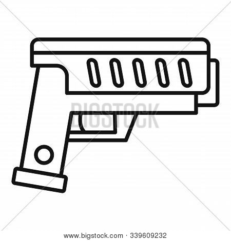 Combat Blaster Icon. Outline Combat Blaster Vector Icon For Web Design Isolated On White Background