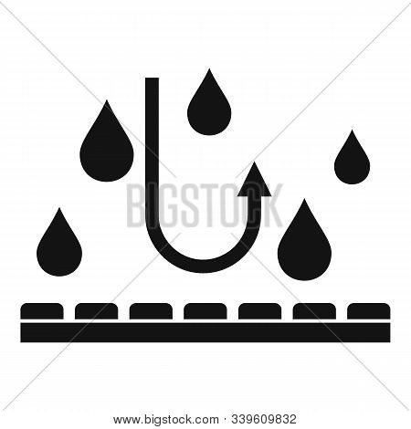 Waterproof Fabric Feature Icon. Simple Illustration Of Waterproof Fabric Feature Vector Icon For Web