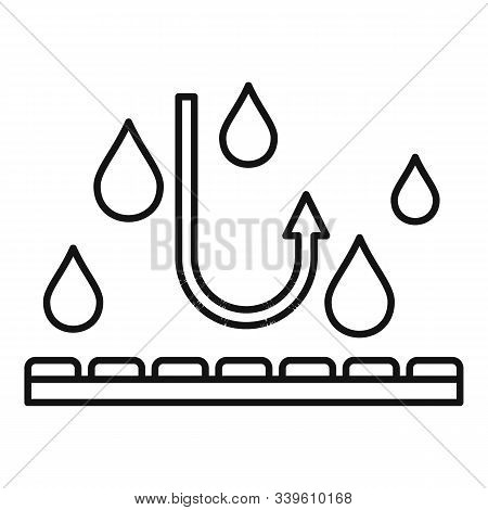 Waterproof Fabric Feature Icon. Outline Waterproof Fabric Feature Vector Icon For Web Design Isolate