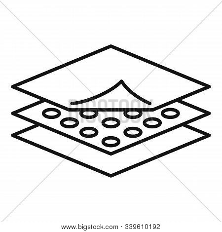 Resistant Fabric Feature Icon. Outline Resistant Fabric Feature Vector Icon For Web Design Isolated