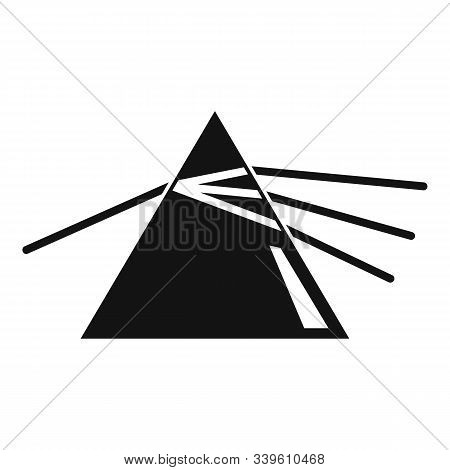 Pyramide Light Refraction Icon. Simple Illustration Of Pyramide Light Refraction Vector Icon For Web