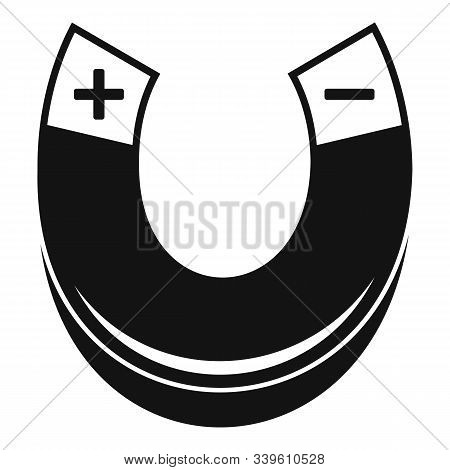 Physics Magnet Icon. Simple Illustration Of Physics Magnet Vector Icon For Web Design Isolated On Wh