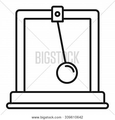 Gravitation Stand Ball Icon. Outline Gravitation Stand Ball Vector Icon For Web Design Isolated On W