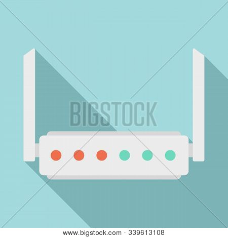 Broadband Router Icon. Flat Illustration Of Broadband Router Vector Icon For Web Design
