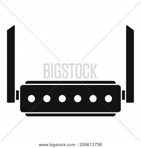 Broadband Router Icon. Simple Illustration Of Broadband Router Vector Icon For Web Design Isolated O