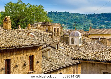 Amazing Landscape With Old Town Of Orvieto, Italy