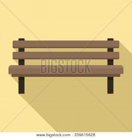 Settle Bench Icon. Flat Illustration Of Settle Bench Vector Icon For Web Design