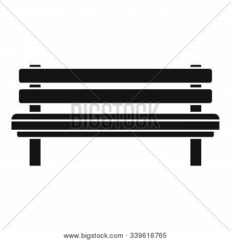 Settle Bench Icon. Simple Illustration Of Settle Bench Vector Icon For Web Design Isolated On White