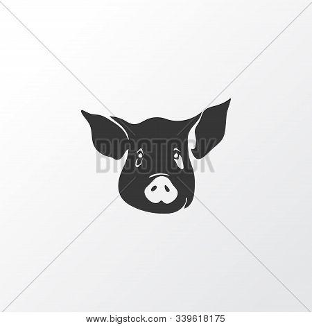 Pig Icon Symbol. Premium Quality Isolated Swine Element In Trendy Style.