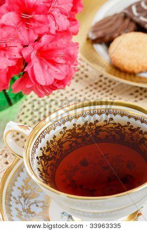Vintage Teacup Close Up