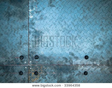 Texture Of Raw Steel Plate On Panel