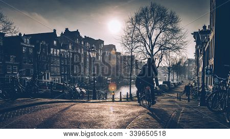 Amsterdam, Prinsengracht, The Netherlands, 12/05/2019, Amsterdam Autumn In The Morning, Old City Cen