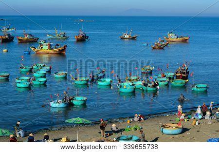 Fishing Boats On Blue Sea