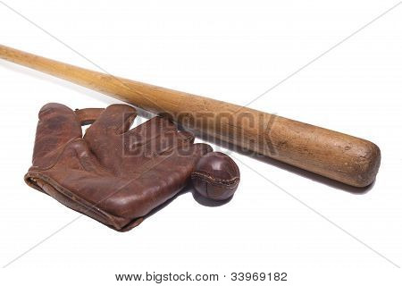 Vintage Baseball Objects
