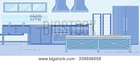 Successful Restaurant Kitchen With Specific Components, Organized Properly To Optimize Performance A