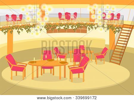 Banqueting Celebration Hall For Solemn Events, Anniversary Or Wedding Planners Interior. Food Busine