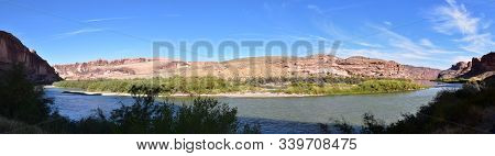 Moab Panorama Views Of Colorado River Highway Ut 128  In Utah Around  Hal And Jackass Canyon And Red