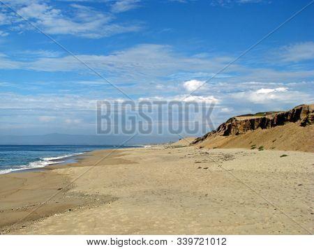 Scenic Beach Coastline Of Monterey Bay California