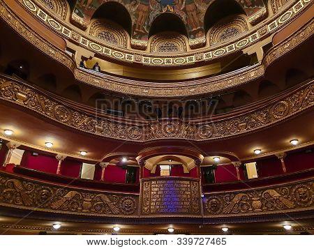 Timisoara, Romania, November 25, 2019: Interior Of The The Romanian National Opera, A Public Opera B