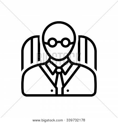 Black Line Icon For Principal Avatar School