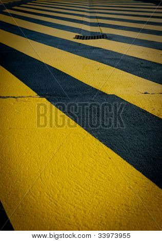 Provisional yellow pedestrian crossing