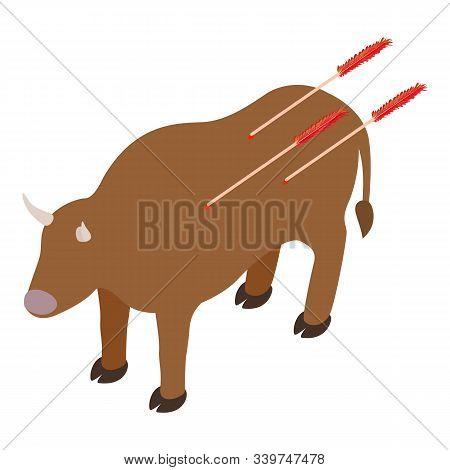 Prehistoric Hunt Icon. Isometric Illustration Of Prehistoric Hunt Vector Icon For Web
