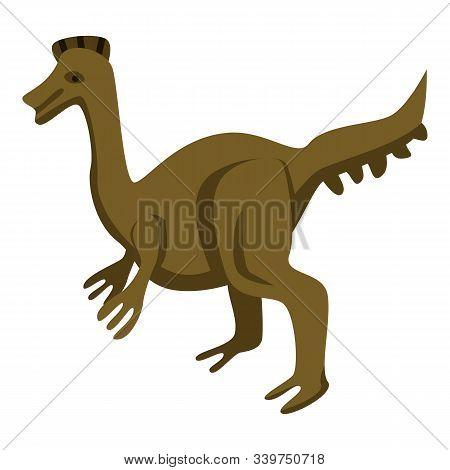 Park Dinosaur Icon. Isometric Of Park Dinosaur Vector Icon For Web Design Isolated On White Backgrou