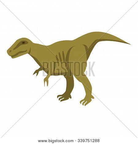 Predator Green Dino Icon. Isometric Of Predator Green Dino Vector Icon For Web Design Isolated On Wh