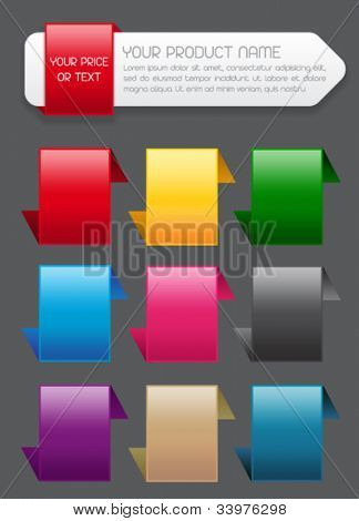 Sale Banner / Label and Icons in colors
