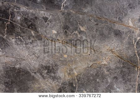 Closeup Surface Marble Stone Pattern At The Color Marble Stone Texture Background, Abstract Grey Mar
