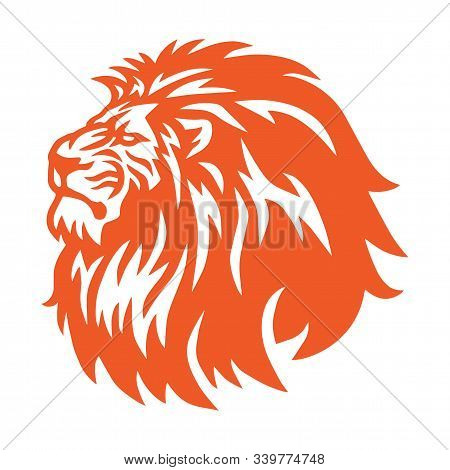 Fierce Lion Head Logo Vector Icon Mascot Design