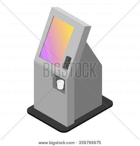 Payment Kiosk Icon. Isometric Of Payment Kiosk Vector Icon For Web Design Isolated On White Backgrou