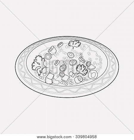 Moroccan Couscous Icon Line Element. Vector Illustration Of Moroccan Couscous Icon Line Isolated On
