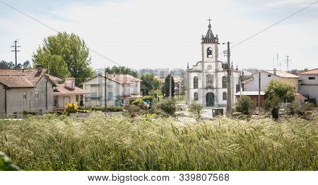 Vila Cha, Portugal - May 9, 2018: Architecture Detail Of St. John The Baptist Church Of Vila Cha In