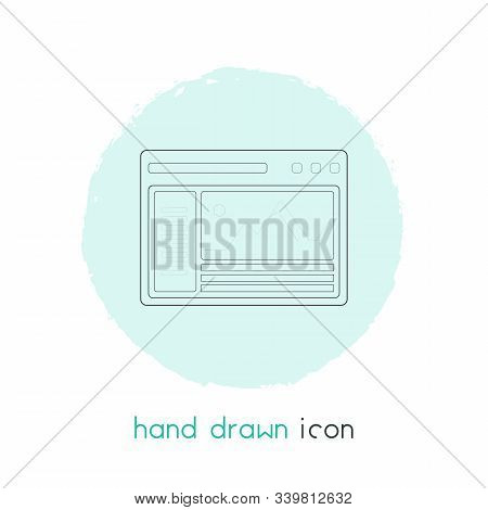 Wire Framing Icon Line Element. Vector Illustration Of Wire Framing Icon Line Isolated On Clean Back
