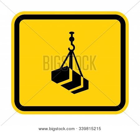 Beware Overhead Load Symbol Isolate On White Background,vector Illustration