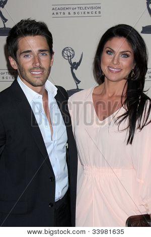 LOS ANGELES - JUN 14:  Brandon Beemer, Nadia Bjorlin arrives at the ATAS Daytime Emmy Awards Nominees Reception at SLS Hotel At Beverly Hills on June 14, 2012 in Los Angeles, CA