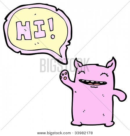 cartoon little magical creature poster