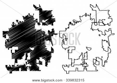 Fort Collins City (united States Cities, United States Of America, Usa City) Map Vector Illustration