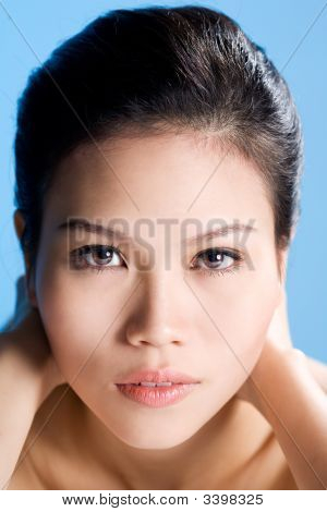 Beautiful Face Of Asian Young Women