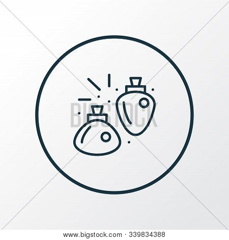 Mana Potion Icon Line Symbol. Premium Quality Isolated Flasks Element In Trendy Style.