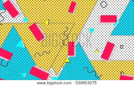 Cartoon Funky Composition. Aqua Geometric Artwork. Terracotta Animation Banner. Creative Lemon Flyer