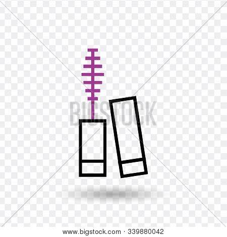 Mascara Vector Line Icon. Simple Element Illustration. Mascara Icon For Your Design. Stock Vector Il