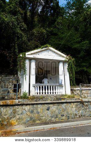 Baile Herculane,romania-september 09,2019:the Baile Herculane Resort On Both Sides Of The Cerna Rive