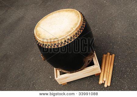 Japanese Wooden Drum