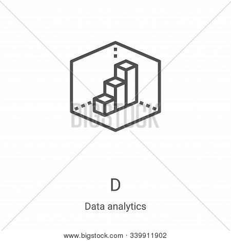 d icon isolated on white background from data analytics collection. d icon trendy and modern d symbo