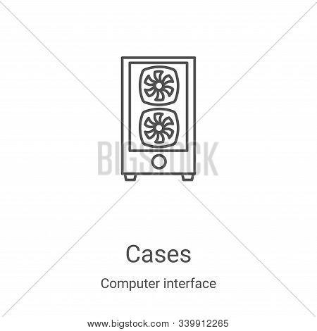 cases icon isolated on white background from computer interface collection. cases icon trendy and mo
